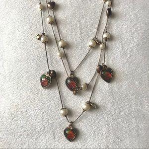 Betsey Johnson 3-Layered Necklace